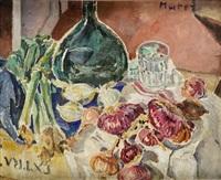 martwa natura z czerwoną cebulą by maria-mela muter