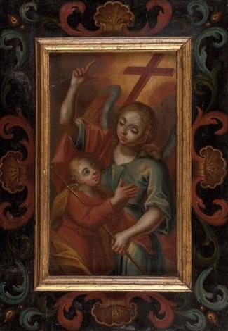 der engel raphael mit der kleinen sarah by austrian school 17