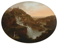 the cascatelli, tivoli by friedrich georg weitsch