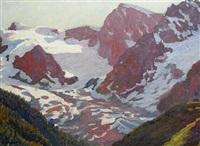 alpine scene by louis augustus sargent