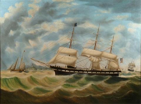the american ship seaflower by william gay yorke