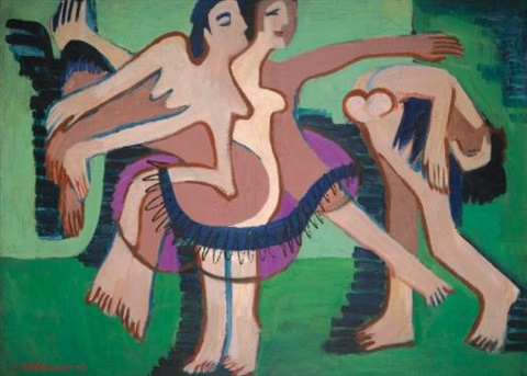 tanzgruppe dance group by ernst ludwig kirchner