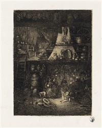 intérieur de paysans de haute-caronne by rodolphe bresdin