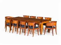 dining table with 10 chairs by leon krier