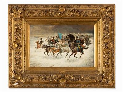 cossack riders by adolf constantin baumgartner stoiloff