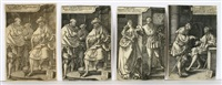 die geschichte von tamar und amnon (4 works) by heinrich aldegrever