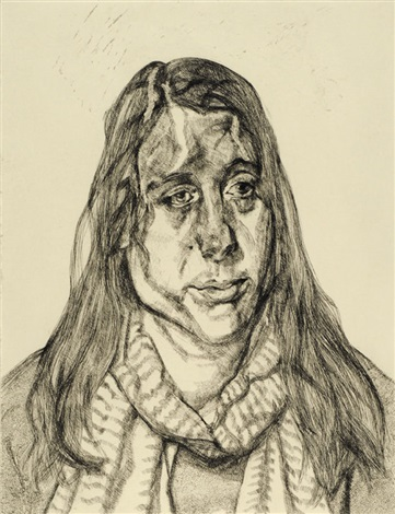 portrait head by lucian freud