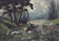 paesaggio con figura by francesco capuano