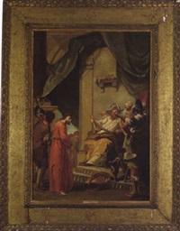 cristo davanti al gran sacerdote, christus vor dem hohen priester by giustino menescardi