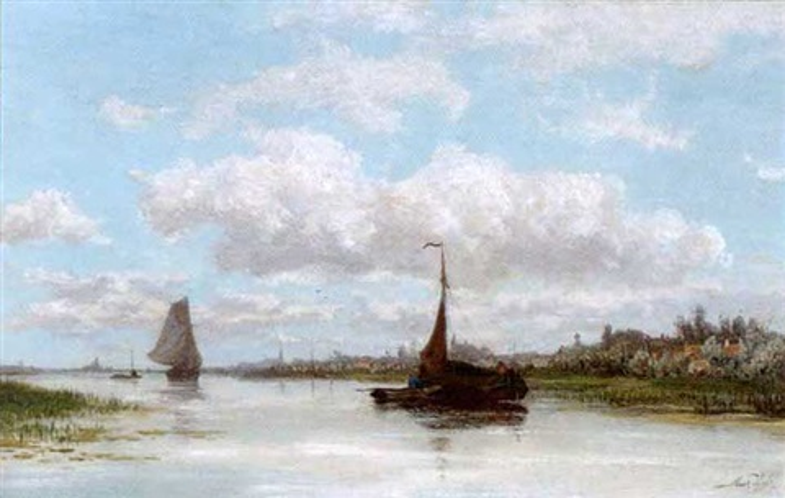 river amstel amsterdam by marius heyl