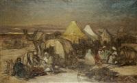 beduíni - odpočívající karavana by jaroslav cermak
