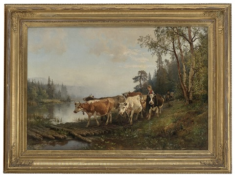 mowing the cattle by anders monsen askevold