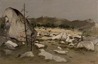 paysage de fontainebleau by robert humblot