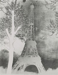 tour eiffel solarisée by maurice tabard