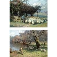 into the fold (+ the shepherd boy; 2 works) by william m. pratt