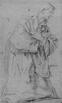 a kneeling monk by lazzaro tavarone