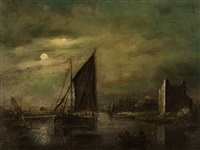 moonlight marine by jacobus theodorus abels