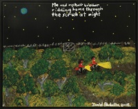 me and my half brother ridding (sic) home through the scrub at night by ian w. abdulla