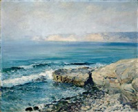 incoming fog, la jolla by guy rose