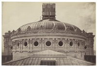cupola of the new paris opera, paris by louis emile durandelle