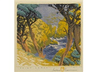 point lobos (not in acton) by gustave baumann