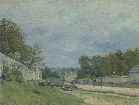 route de versailles by alfred sisley