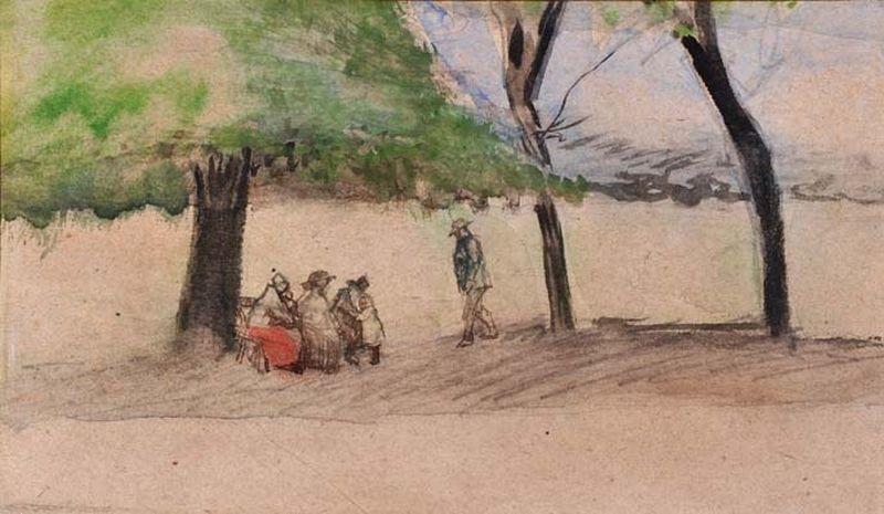 dans la forêt la hague by vincent van gogh