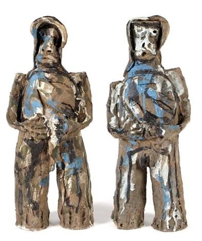 migrante hombre y migrante mujer 2 works by alejandro santiago