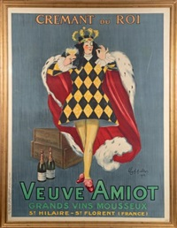 crémant du roi, veuve amiot, grands vins mousseux, saint hilaire, saint florent (france) by leonetto cappiello