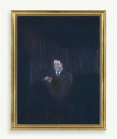 man in blue vi by francis bacon