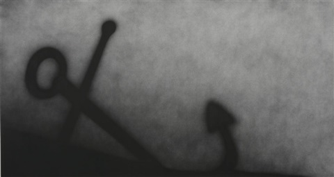 anchor stuck in sand by ed ruscha
