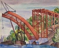 harlem river bridge by vera andrus