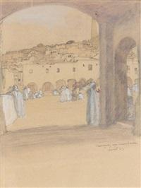 place animée à gardhaia by francois marie léon de marliave
