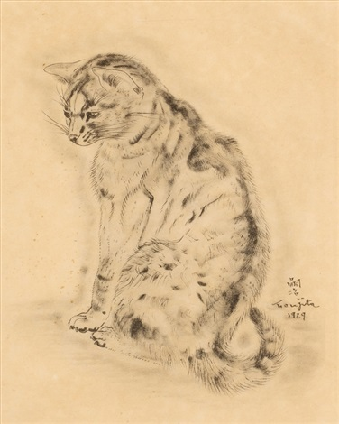azubah from book of cats by léonard tsuguharu foujita