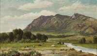 california landscape (sutter buttes?) by william franklin jackson