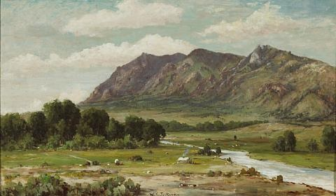 california landscape sutter buttes by william franklin jackson