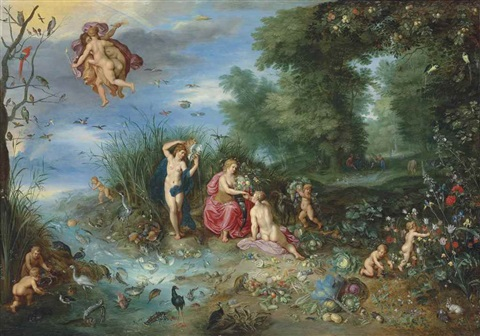 Four Elements Art : Abundance and the four elements by jan brueghel younger on artnet