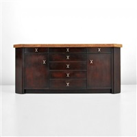cabinet with cork top by paul t. frankl
