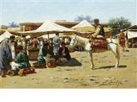 market scene by richard karlovich zommer