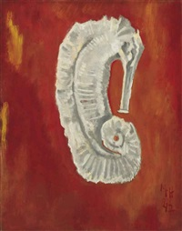 white sea horse by marsden hartley