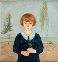 dziewczynka z fiołkiem by vlastimil hofmann