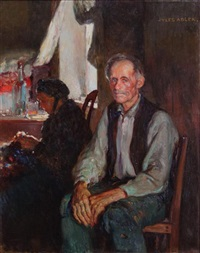 portrait of a seated man by jules adler
