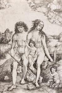 adam et eve et leurs deux enfants by cristoforo di michele robetta
