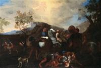 die bekehrung des heiligen paul / conversione di san paolo by andrea di leone