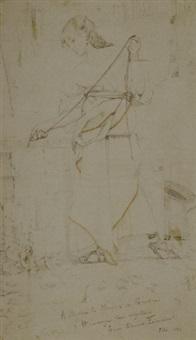 giovane donna vicina ad un pozzo by louis edouard paul fournier