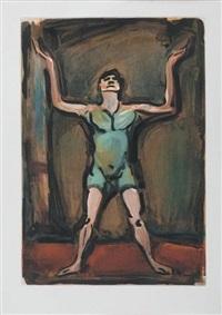 le jongleur (from cirque d'andré suarès) by georges rouault