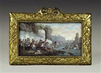 scène de bataille équestre by louis nicolas van blarenberghe