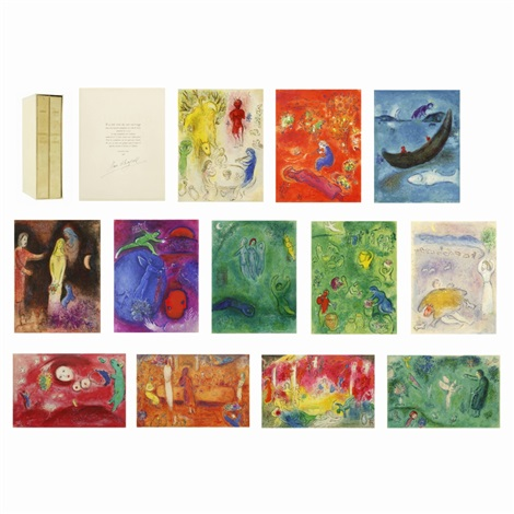 daphnis et chloé set of 42 by marc chagall