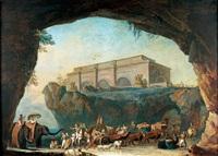 les peuples de l'empire arrivant au temple de la rome éternelle by jean-baptiste hilaire