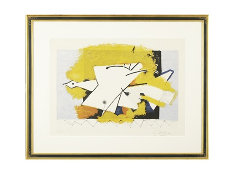 loiseau jaune yellow bird by georges braque